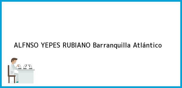 Teléfono, Dirección y otros datos de contacto para ALFNSO YEPES RUBIANO, Barranquilla, Atlántico, Colombia