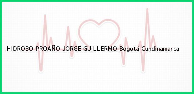 Teléfono, Dirección y otros datos de contacto para HIDROBO PROAÑO JORGE GUILLERMO, Bogotá, Cundinamarca, Colombia