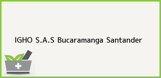 Teléfono, Dirección y otros datos de contacto para IGHO S.A.S, Bucaramanga, Santander, Colombia
