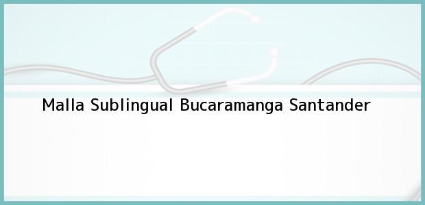 Teléfono, Dirección y otros datos de contacto para Malla Sublingual, Bucaramanga, Santander, Colombia