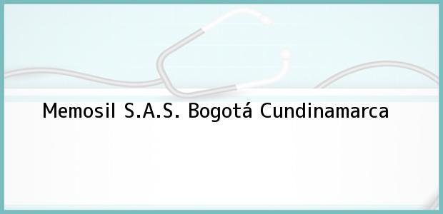 Teléfono, Dirección y otros datos de contacto para Memosil S.A.S., Bogotá, Cundinamarca, Colombia