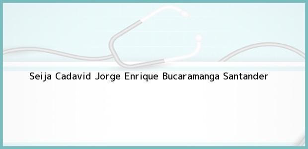 Teléfono, Dirección y otros datos de contacto para Seija Cadavid Jorge Enrique, Bucaramanga, Santander, Colombia