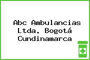Abc Ambulancias Ltda. Bogotá Cundinamarca