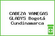 CABEZA VANEGAS GLADYS Bogotá Cundinamarca