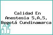Calidad En Anestesia S.A.S. Bogotá Cundinamarca