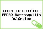 CARRILLO RODRÍGUEZ PEDRO Barranquilla Atlántico