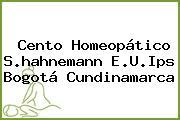 Cento Homeopático S.hahnemann E.U.Ips Bogotá Cundinamarca