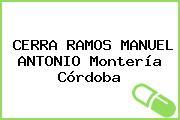 CERRA RAMOS MANUEL ANTONIO Montería Córdoba