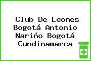 Club De Leones Bogotá Antonio Nariño Bogotá Cundinamarca