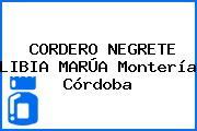 CORDERO NEGRETE LIBIA MARÚA Montería Córdoba
