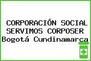 CORPORACIÓN SOCIAL SERVIMOS CORPOSER Bogotá Cundinamarca