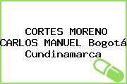 CORTES MORENO CARLOS MANUEL Bogotá Cundinamarca
