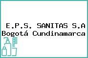 E.P.S. SANITAS S.A Bogotá Cundinamarca