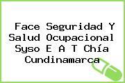 Face Seguridad Y Salud Ocupacional Syso E A T Chía Cundinamarca