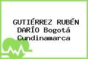 GUTIÉRREZ RUBÉN DARÍO Bogotá Cundinamarca