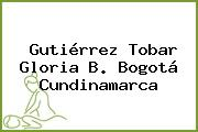 Gutiérrez Tobar Gloria B. Bogotá Cundinamarca