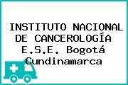 INSTITUTO NACIONAL DE CANCEROLOGÍA E.S.E. Bogotá Cundinamarca