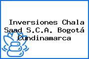 Inversiones Chala Saad S.C.A. Bogotá Cundinamarca