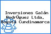 Inversiones Galán RodrÚguez Ltda. Bogotá Cundinamarca