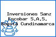 Inversiones Sanz Escobar S.A.S. Bogotá Cundinamarca