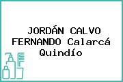 JORDÁN CALVO FERNANDO Calarcá Quindío