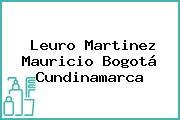 Leuro Martinez Mauricio Bogotá Cundinamarca