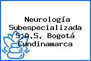 Neurología Subespecializada S.A.S. Bogotá Cundinamarca