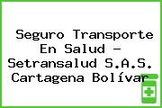 Seguro Transporte En Salud - Setransalud S.A.S. Cartagena Bolívar