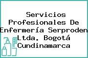 Servicios Profesionales De Enfermería Serproden Ltda. Bogotá Cundinamarca