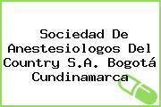 Sociedad De Anestesiologos Del Country S.A. Bogotá Cundinamarca