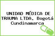 UNIDAD MÉDICA DE TRAUMA LTDA. Bogotá Cundinamarca