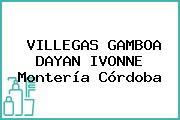 VILLEGAS GAMBOA DAYAN IVONNE Montería Córdoba
