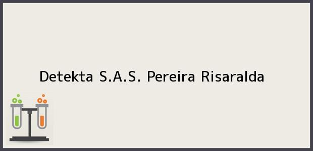 Teléfono, Dirección y otros datos de contacto para Detekta S.A.S., Pereira, Risaralda, Colombia