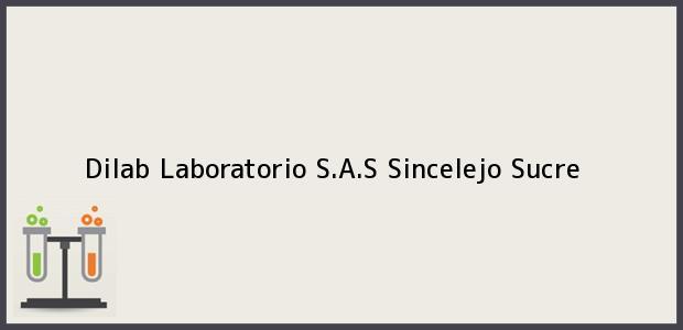Teléfono, Dirección y otros datos de contacto para Dilab Laboratorio S.A.S, Sincelejo, Sucre, Colombia