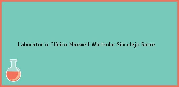 Teléfono, Dirección y otros datos de contacto para Laboratorio Clínico Maxwell Wintrobe, Sincelejo, Sucre, Colombia