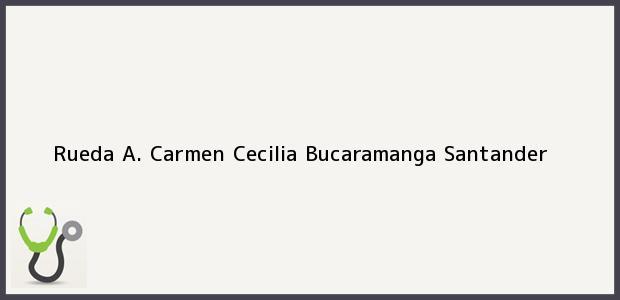 Teléfono, Dirección y otros datos de contacto para Rueda A. Carmen Cecilia, Bucaramanga, Santander, Colombia