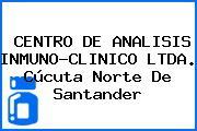 CENTRO DE ANALISIS INMUNO-CLINICO LTDA. Cúcuta Norte De Santander