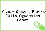 César Orozco Pertuz Julio Aguachica Cesar