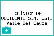 CLÍNICA DE OCCIDENTE S.A. Cali Valle Del Cauca