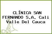 CLÍNICA SAN FERNANDO S.A. Cali Valle Del Cauca