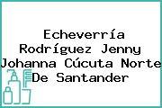 Echeverría Rodríguez Jenny Johanna Cúcuta Norte De Santander