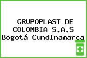GRUPOPLAST DE COLOMBIA S.A.S Bogotá Cundinamarca
