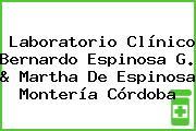 Laboratorio Clínico Bernardo Espinosa G. & Martha De Espinosa Montería Córdoba