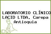 LABORATORIO CLÍNICO LACID LTDA. Carepa Antioquia