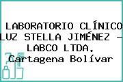 LABORATORIO CLÍNICO LUZ STELLA JIMÉNEZ - LABCO LTDA. Cartagena Bolívar