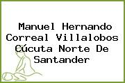 Manuel Hernando Correal Villalobos Cúcuta Norte De Santander