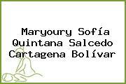 Maryoury Sofía Quintana Salcedo Cartagena Bolívar
