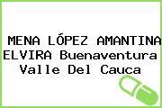 MENA LÓPEZ AMANTINA ELVIRA Buenaventura Valle Del Cauca