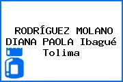 RODRÍGUEZ MOLANO DIANA PAOLA Ibagué Tolima