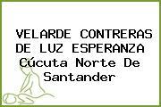 VELARDE CONTRERAS DE LUZ ESPERANZA Cúcuta Norte De Santander